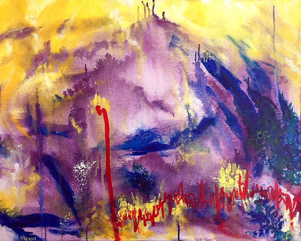 Untitled 9, Acrylic on canvas